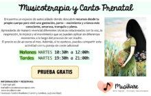 PRUEBA GRATIS! Musicoterapia y Canto Prenatal